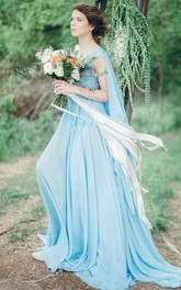 Serenity Bohemian Chiffon Wedding Or Prom Non Traditional Coloured Bridal Gown Dress