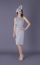 Chiffon and Lace Sleeveless Mother of The Bride Dress with Applique