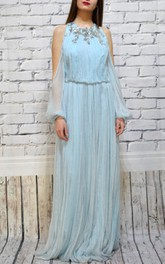 Chiffon Wedding Bohemian Wedding Wedding With Sleeves Engagement Pleated Wedding Wedding Dress