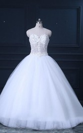 Ball Gown Sweetheart Lace Weddig Dress