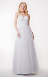 Stunning Sweetheart Long Convertible Tulle Dress With Pleats