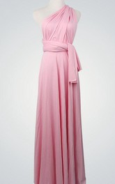 Light Pink Floor Length Infinity Powder Pink Light Pink Long Pink Long Long Bridesmaid Dress