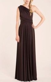 Chocolate Brown Long Infinity Bridesmaid Dress