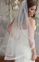 Simple Style Single Layer Soft Yarn Bride Wedding Veil With Hair Comb
