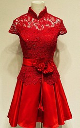 Red Prom In Handmade Short Prom Short Bridesmaid Short Formal Short Mother Of The Bride Dress