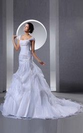 Wonderful Organza Style Dress With Ruffles And Crystal Detailing