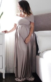 Maternity Gown Long Infinity Maternity The Wrap Babydoll Dress