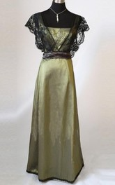 Edwardian Olive Sage Green Vintage Styled Lace Dress