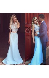 Two Pieces Prom Dress Strapless Dress Mermaid Prom Dress