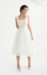 Tea Length Open Back Wedding Erika Dress