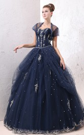 A-Line Exquisite Princess Ball Gown With Soft Tulle And Laces