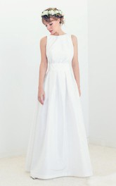 Boatneck Open Back Bridal Gown Audrey Wedding Gown Dress