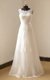 Ivory A Line Lace Wedding Weddig Dress