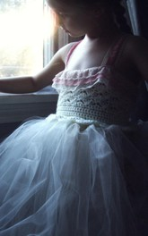 strapped Pleated Tulle&Taffeta Dress With Beading&Flower