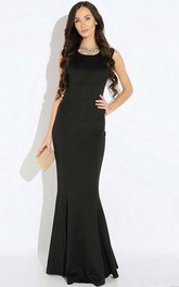 Elegant Mermaid Sleeveless Formal Dress