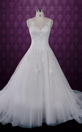Classic Princess Lace A Line Wedding Lace Wedding S Cheryl Dress