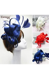Original Europe And The United States Sapphire Blue Satin Hair Band Hair Band Bridal Wedding Dress Red Headdress