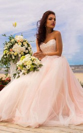 Ball Gown Tulle Lace Satin Weddig Dress