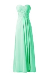 Chic Sweetheart Ruched A-line Gown With Zipper Back