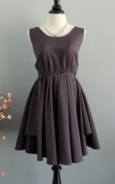 Short Backless Dress With Low-V Back