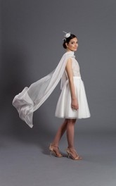 Circle Tulle Off White Skirt Bridal Skirt Gown Dress