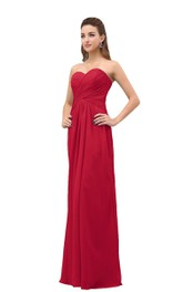 Sweetheart Long Dress With Basque Waist