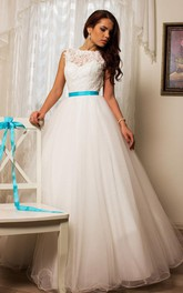 Tulle Lace Taffeta Weddig Dress With Beading Embroideries