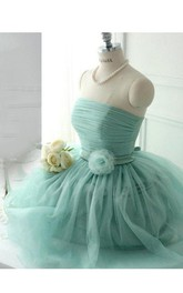 Ball Gown Mini Off-the-shoulder Tulle&Lace Dress