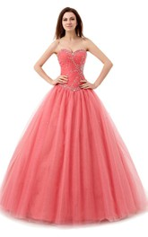 Sweetheart Ballgown With Sequined Bodice