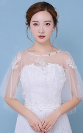 New Lace Diamond Cape Round Neck Set Of White Shawl