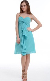 A-line Sweetheart Chiffon Dress