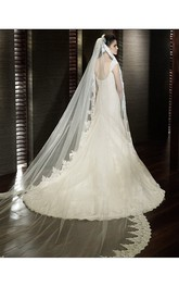 Special Offer Long White 3 Meters Bridal Veil Lace Applique Soft Tulle Wedding Veil