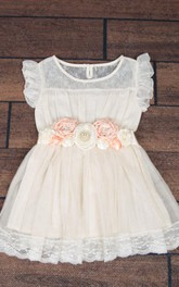 Boho Chic Country Ruffled A-line Tulle Dress