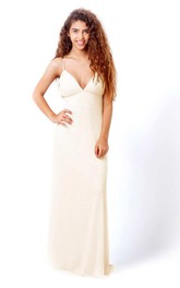 Floor-Length Chiffon Backless Wedding Dress