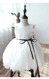 Flower Girl Lace Bridesmaid Toddler Dress With Sleeveless