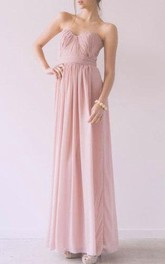 Maxi Sweetheart Chiffon Dress