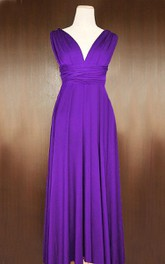 Barney Infinity Convertible Wrap Full Length Dress