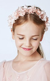 Girl Princess Pearl Flower Crown Wreath