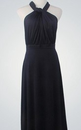 Halter Neck Convertible Long Bridesmaid Dress