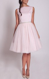 1950S Blush Pink Tulle Dress