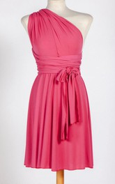 Short Infinity Fuchsia Jersey Dress