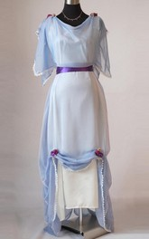Edwardian Light Blue Evening Plus Size Made In England Downton Abbey Inspired Titanic Styled Dress