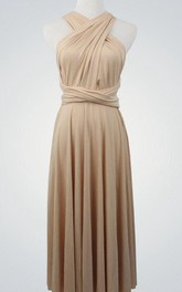 Infinity Cocktail Bridesmaid Dress With Bow