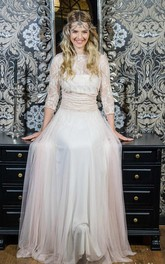 Tulle Jersey Satin Lace Wedding Dress