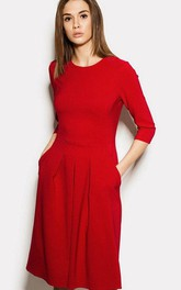Intellectual Modern Sleeved Jersey Dress