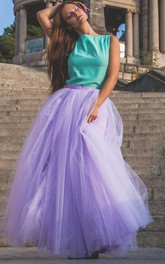 Lilac Tulle Skirt Maxi Dress