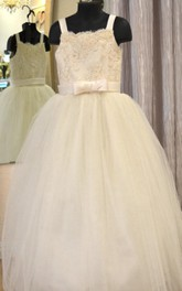 Tulle&Lace A-line Dress With Beading&Illusion