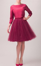 Cherry Blouse Tulle Dress