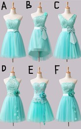 Lovely Short A-line 2018 Bridesmaid Dress Flower Bowknot