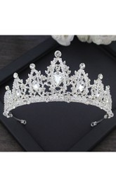 New Korean Bride Headdress Zircon Crown Necklace Ear Earrings Earrings Three Suit